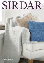 Sirdar Tempation - 8194 Home Accessories, Throw and Cushion Covers Knitting Pattern
